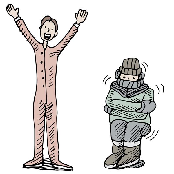 Термобелье эффективнее большого количества одежды