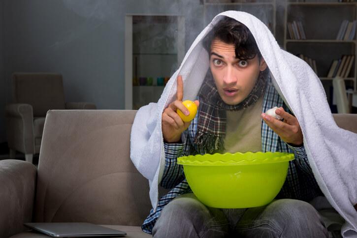 Лечение простуды паровой ингаляцией
